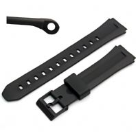 Watch Strap 18mm Black Resin  to fit Casio F-201, F201W